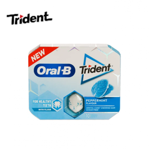 TRIDENT ORAL B PEPPERMINT